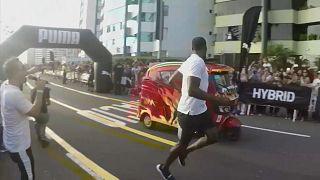 The tuk-tuk provided little competition for Bolt