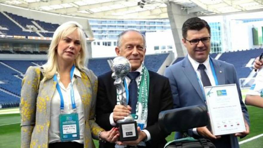 Brazil football team awarded Nine Values Cup by young international ambassadors