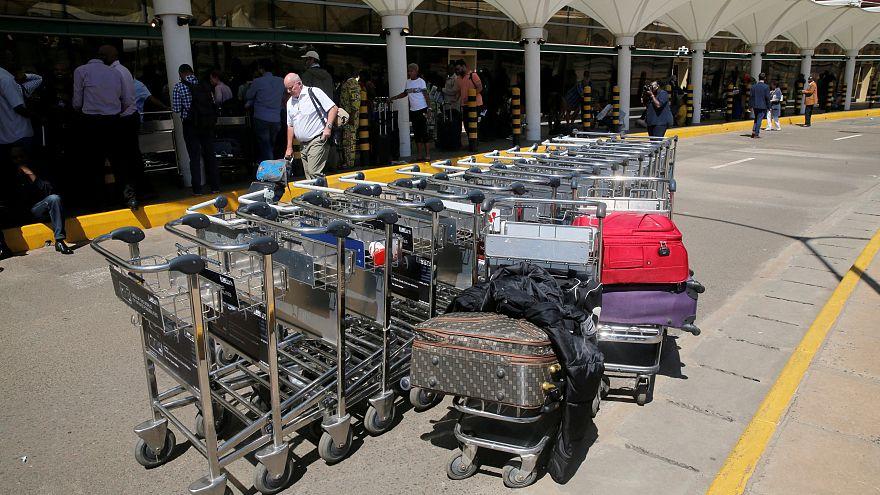 Fire disrupts one terminal at Kenya's main airport in Nairobi