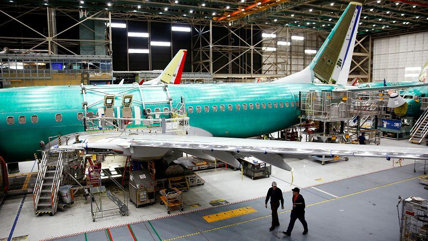 طائرة 737 ماكس في مصنع بوينج في رنتون بواشنطن