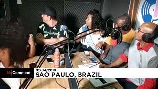 ویدئو؛ دزدی از استودیوی رادیو به هنگام پخش زنده در برزیل