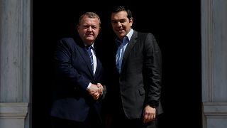 Μεταναστευτικό και Συμφωνία Πρεσπών στη συνάντηση Τσίπρα με Ράσμουσεν