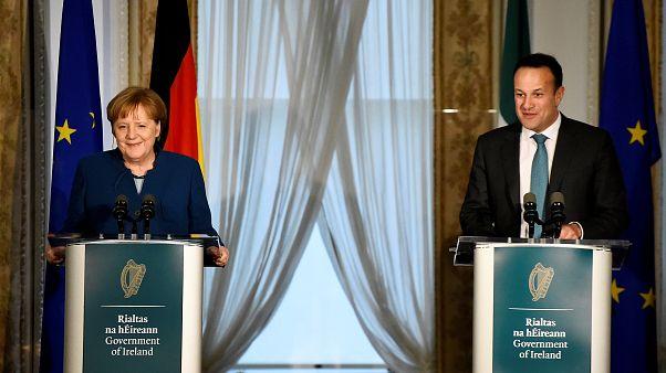 Brexit : Angela Merkel et Leo Varadkar sur la même longueur d'onde