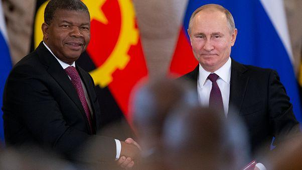 João Lourenço e Vladimir Putin no Kremlin