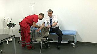 Tests de drogas y alcohol para Poroshenko y Zelenski