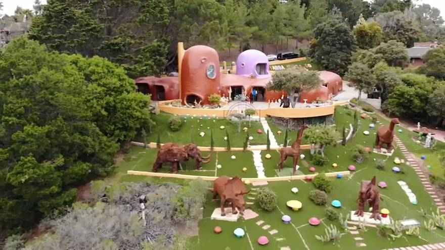 The Flintstones homage house has become a local visitors' attarction