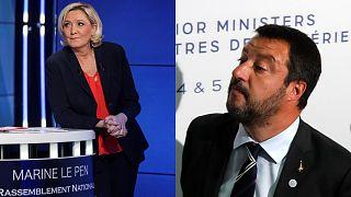 Europee 2019: Matteo Salvini incontra Marine Le Pen