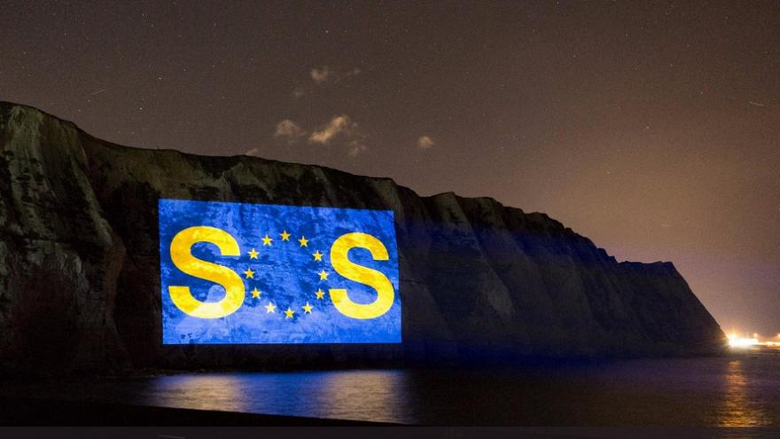 Brexit SOS beamed on to the white Cliffs of Dover