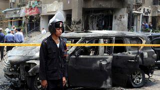 شرطي بموقع تفجير استهدف النائب العام المصري السابق هشام بركات