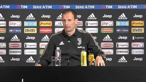 """Juve punta a scudetto record, Allegri: """"razzismo va condannato sempre"""""""