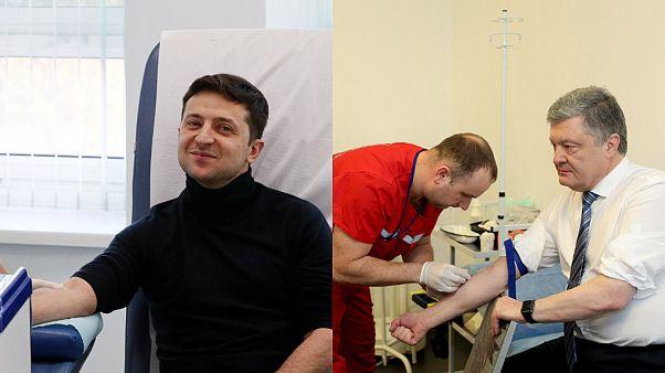 Ukrayna'da devlet başkanı adayları kan testine girdi