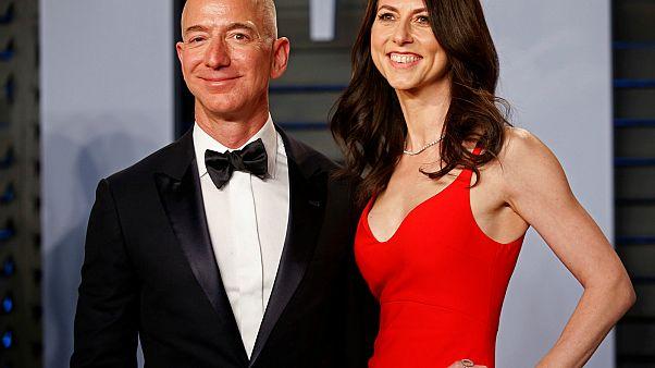 Amazon CEO Jeff Bezos and MacKenzie Bezos