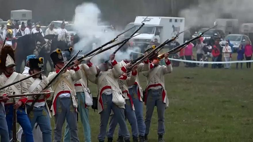 Military re-enactors gather on this field annually