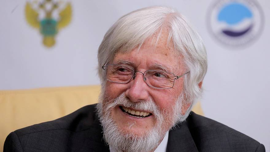 Explorer Jean-Michel Cousteau attends a meeting with officials in Moscow.