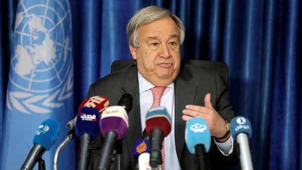غوتيريش الأمين العام للأمم المتحدة