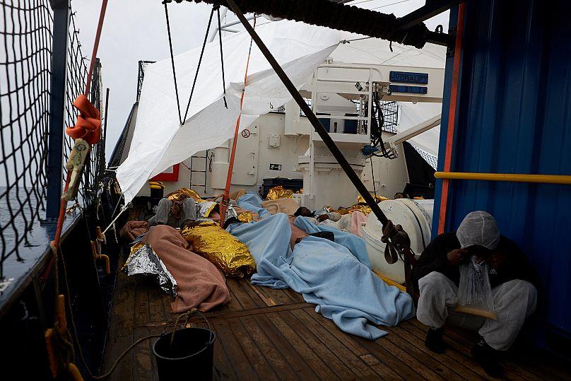 Fabien Heinz/Sea-eye.org/Handout via REUTERS