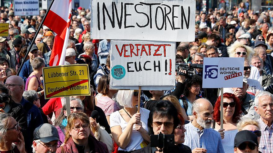 Germans take to streets in rent rise protests demanding more homes to become social housing