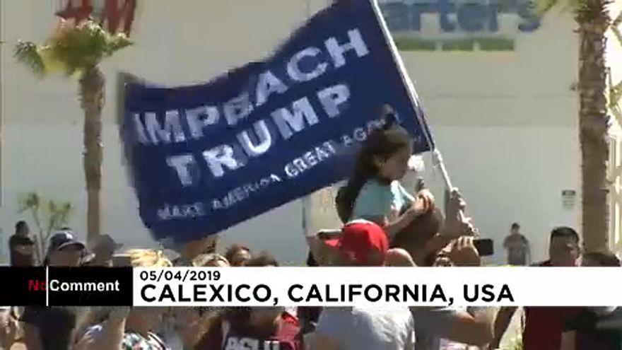 Trump border visit in California sparks protests