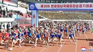 شاهد: تضاعف المشاركة الأجنبية في ماراثون كوريا الشمالية