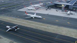 İstanbul Havalimanı'nda ticari uçuşlar başladı: İlk uçak Ankara'ya kalktı