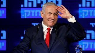 Israeli PM Benjamin Netanyahu delivers speech on his election campaign