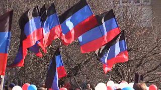 Feiern zum 5. Jahrestag der Ausrufung der Volksrepublik Donezk