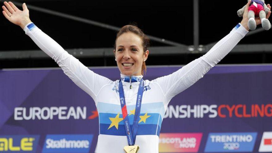 Marta Bastianelli, nel giorno della vittoria al campionato europeo.