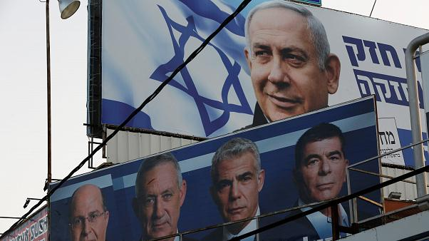 A Likud party election campaign billboard