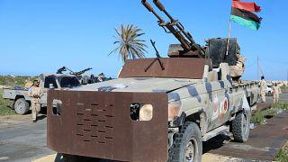 مركبات عسكرية تابعة لقوات مصراتة