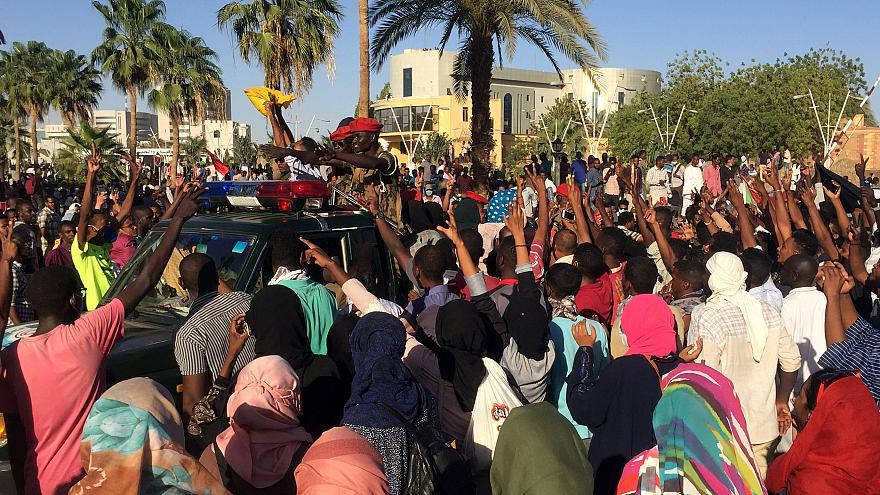 جانب من مظاهرات في السودان