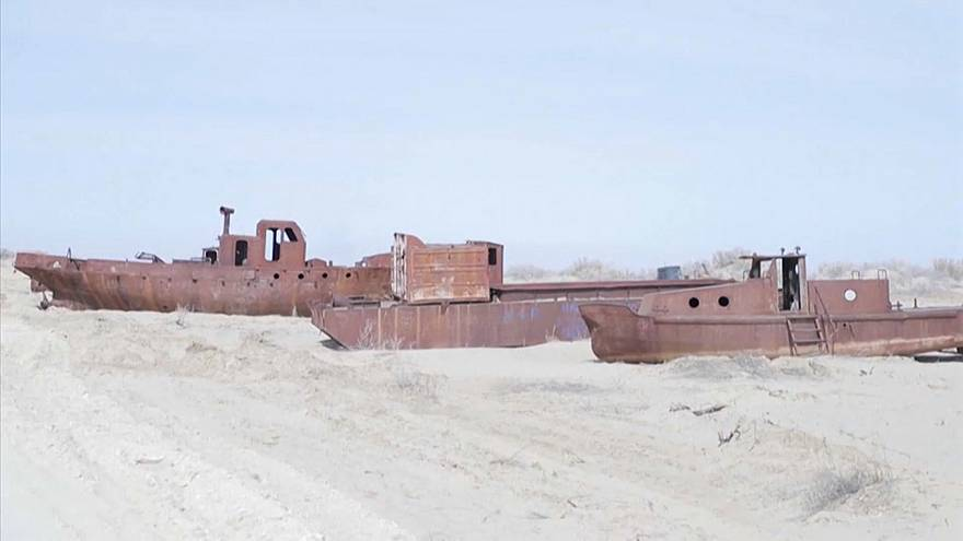 Once the fourth largest lake in the world, the Aral Sea has shrunk by 90%