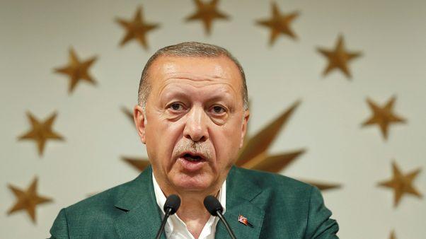الرئيس التركي طيب رجب إردوغان في مؤتمر صحفي في اسطنبول/ 31 مارس آذار 2019