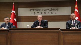 Erdoğan Moskova hareketinden önce açıklamalarda bulundu