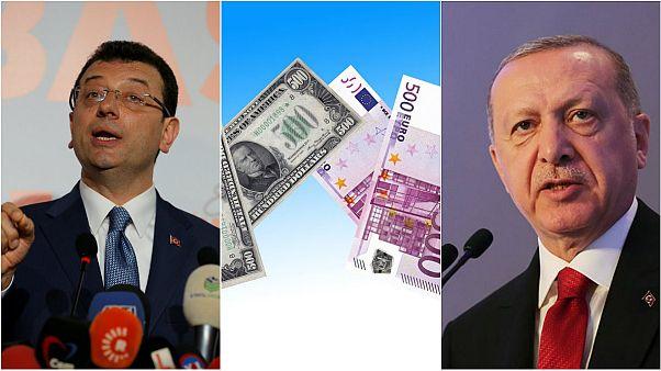 İstanbul'daki siyasi çıkmaz piyasalara yansıdı,  Dolar ve Euro'nun hızlı yükselişi devam etti