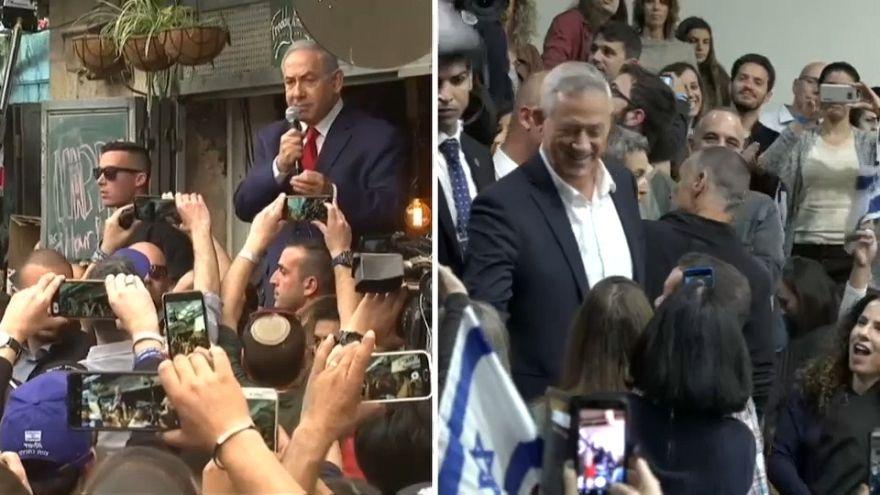 I due sfidanti per le elzioni israeliane: Netanyahu e Gantz