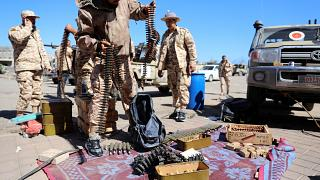 Members of Misrata forces prepare for combat, April 8,  2019