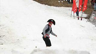 Weißrussischer Pirat im Schnee