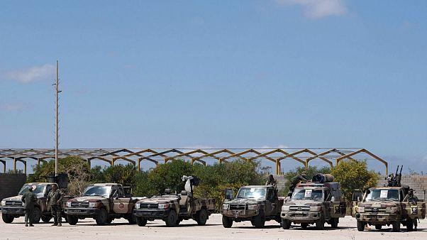 گروهی از نیروهای ارتش ملی لیبی، تحت فرماندهی ژنرال خلیفه حفتر