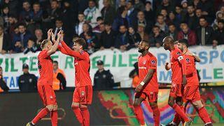 Beşiktaş ile Rizespor'un karşılaştığı maçta sezonun gol rekoru kırıldı