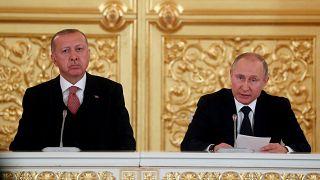 Putin recebe Erdogan