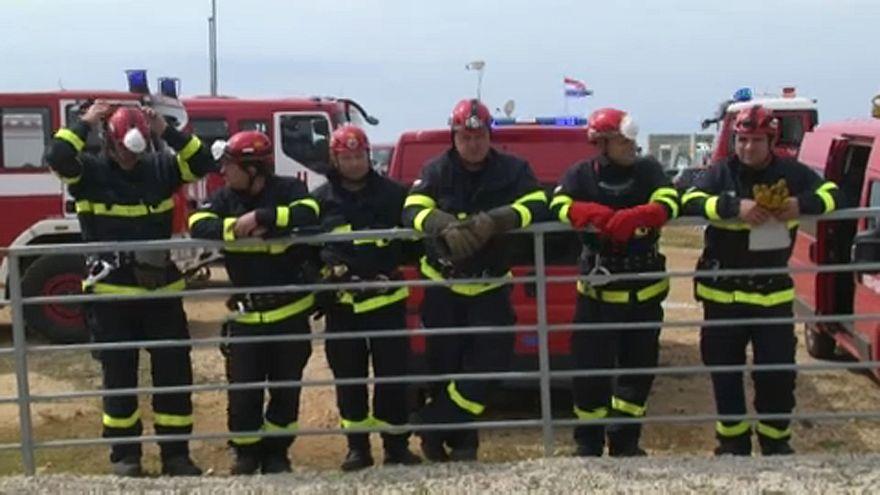 Uniós tűzoltók közös gyakorlaton