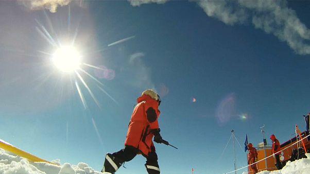 The team will work in average temperatures of minus 50 degrees Celcius
