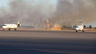 نبرد لیبی؛ فرودگاه معیتیقه طرابلس باز هم بمباران شد