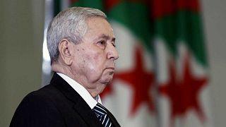 Abdelkader Bensalah, après avoir été nommé Président par intérim - 09/04/19