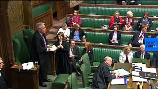 The House of Commons votes on PM May's extension request