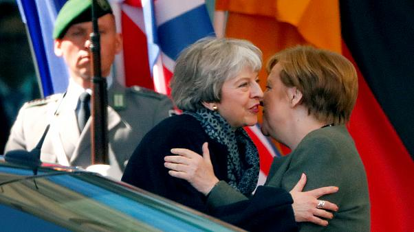 British PM May meets German Chancellor Merkel in Berlin