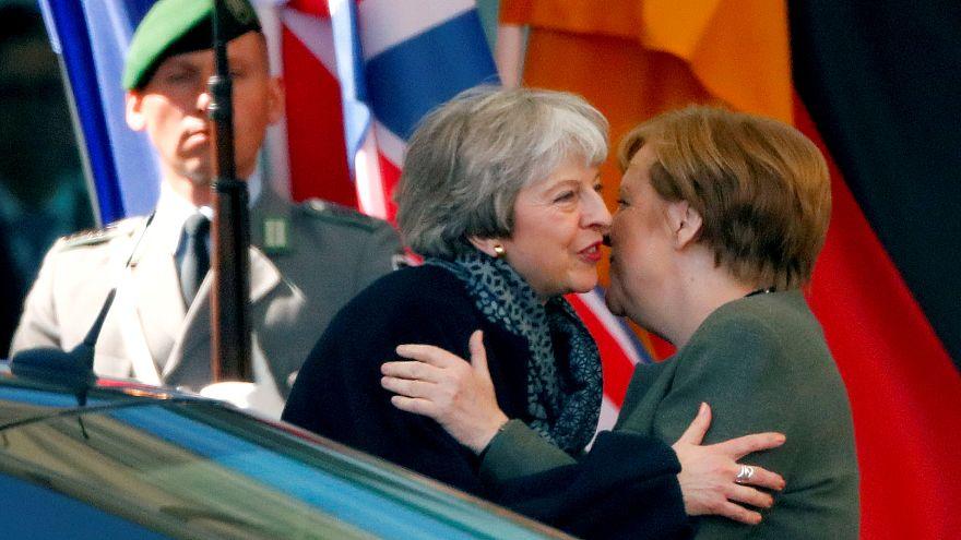 British PM May meets German Chancellor Merkel in Berlin