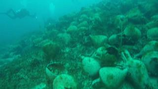 The ship was laden with 4,000 ancient vases, probably containing wine