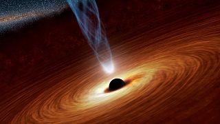 تصویر انتزاعی از سیاهچاله