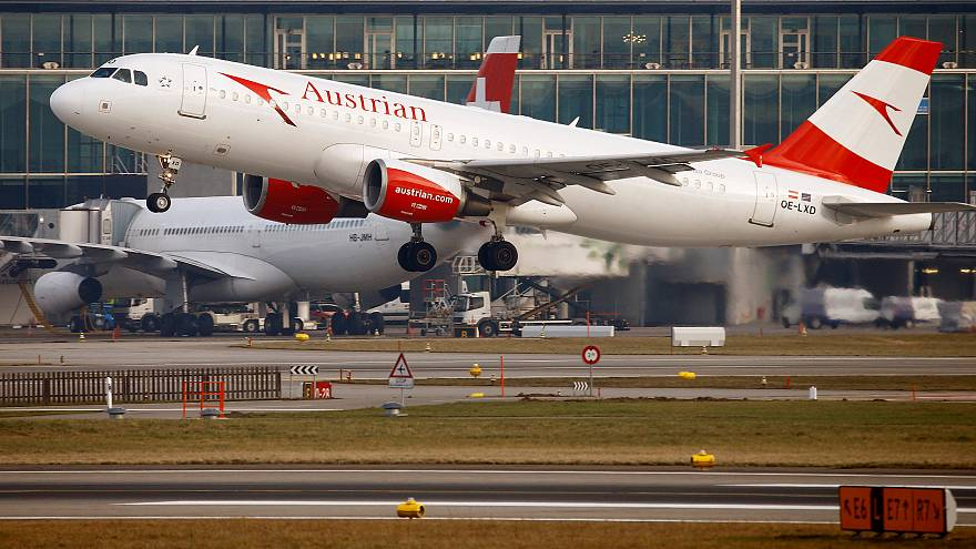 An Austrian Airlines A320 Airbus plane like the one involved in Tirana.